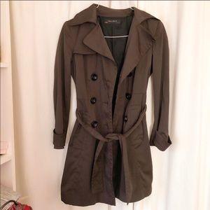 Zara Brown Trench Coat Sz Large